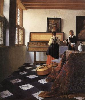 Johannes Vermeer : The Music Lesson